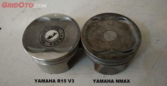 Perbandingan piston Yamaha NMAX dan Yamaha R15 V3