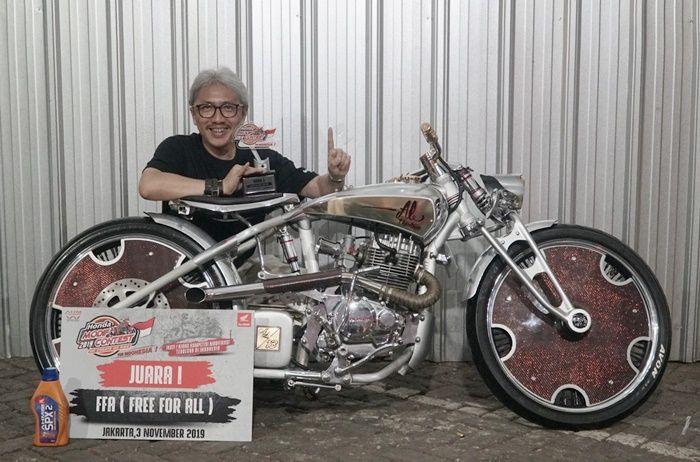 JUARA 1 FFA HMC JAKARTA DIMENANGKAN RIZALDI PARANI DENGAN MOTOR HONDA TIGER BERGAYA BOARD TRACKER