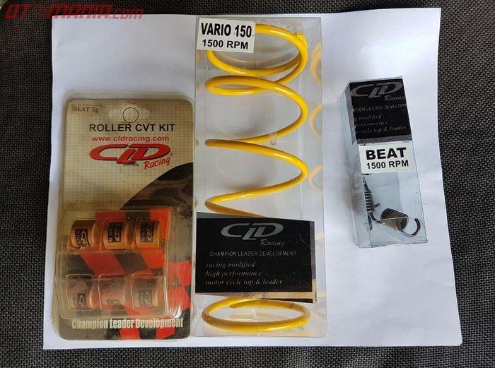 Upgrade CVT Honda Beat Street mulai dari roller, per CVT dan per sentrifugal.