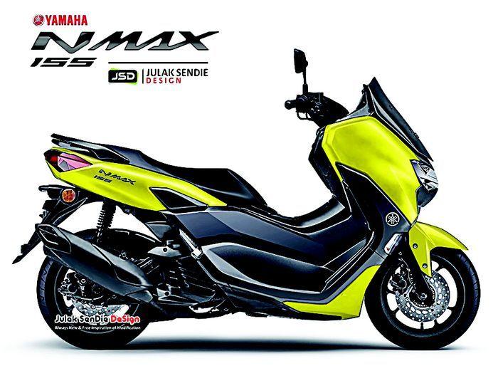 Kuning jadi pilihan warna baru Yamaha NMAX 2020.