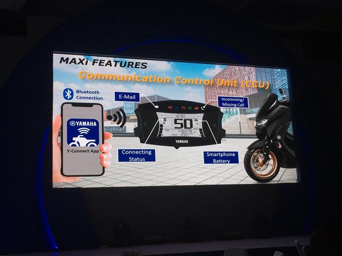 'Connected' Fitur canggil All New Yamaha NMAX