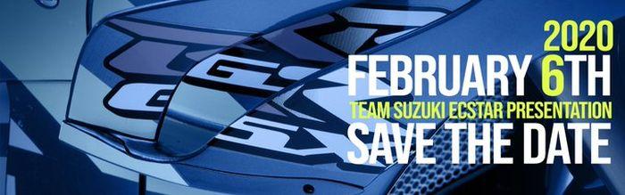 Banner pengumuman tim Suzuki MotoGP launching tahun depan dari Twitter