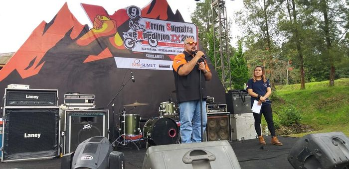 Acara Adventure Sumatera Utara atau XTrim 9 jadi acara kemanusiaan.