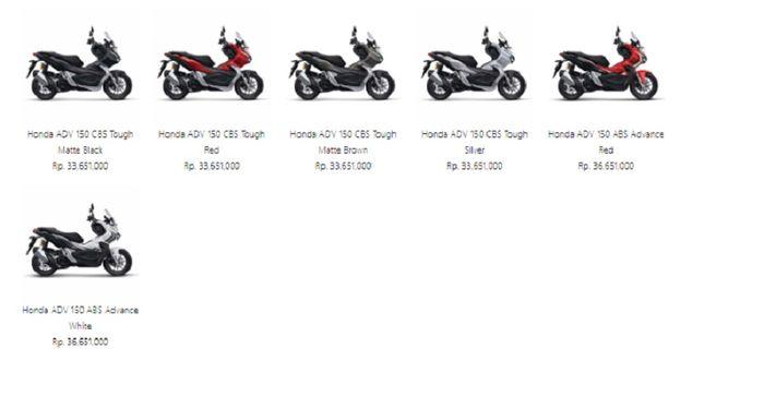 Harga Honda PCX 150 dan ADV150.
