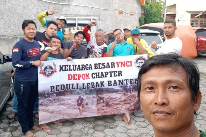 Yamaha NMAX Club Indonesia (YNCI) Depok Chapter yang pada Minggu (19/1/2020) menggelar baksos ke Banten.