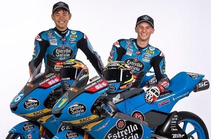 Ryusei Yamanaka dan Sergio Garcia akan pakai helm NHK di Moto3 2020
