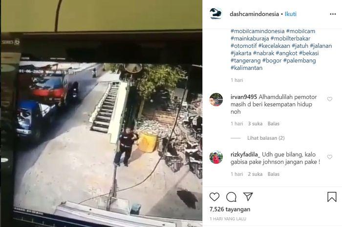 Video CCTV yang mereka kecelakaan Truck rem blong