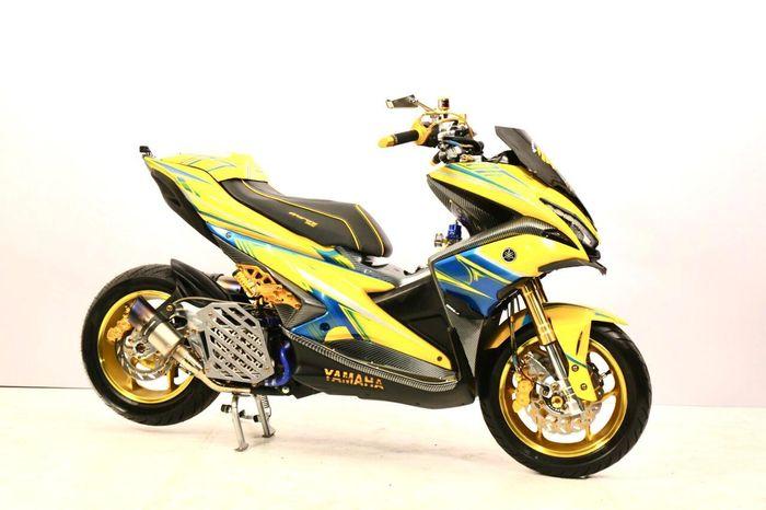 Yamaha Aerox juara Racing Look Customaxi x Heritage Build Makassar