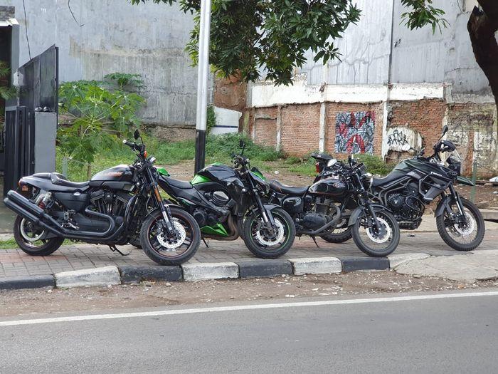 Mulai dari Harley-Davidson, Kawasaki Z800, dan beberapa moge lain tersedia untuk disewa di Riple