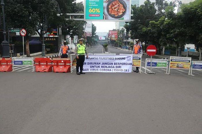 Penutupan beberapa ruas jalan di kota Bandung