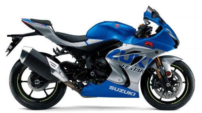 Suzuki GSX-R1000R dengan livery tim MotoGP Suzuki Ecstar