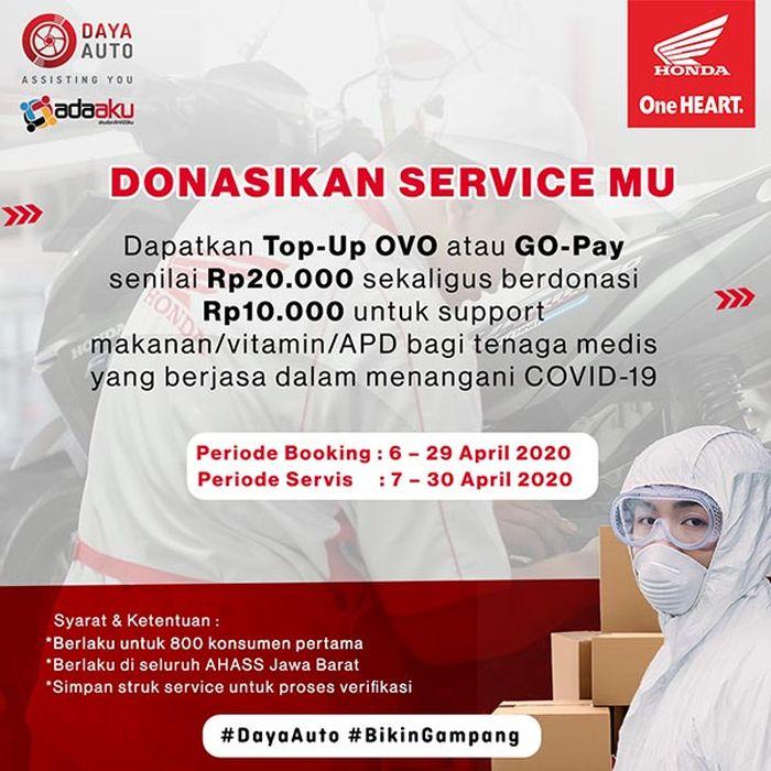Program Donasikan Servicemu oleh PT Daya Adicipta Motora (DAM)