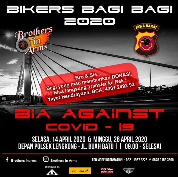 Baksos bertajuk 'Bikers Bagi-bagi 2020' yang digelar BIA.