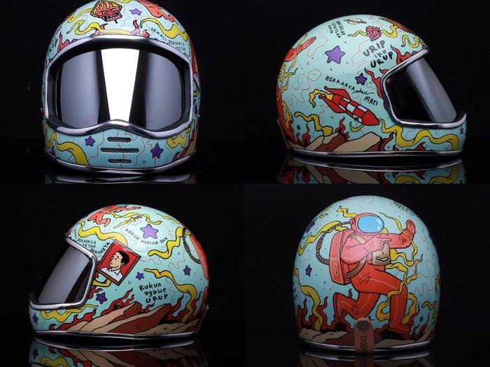 Helm Astro by Trooper Custom karya Hari Merdeka.