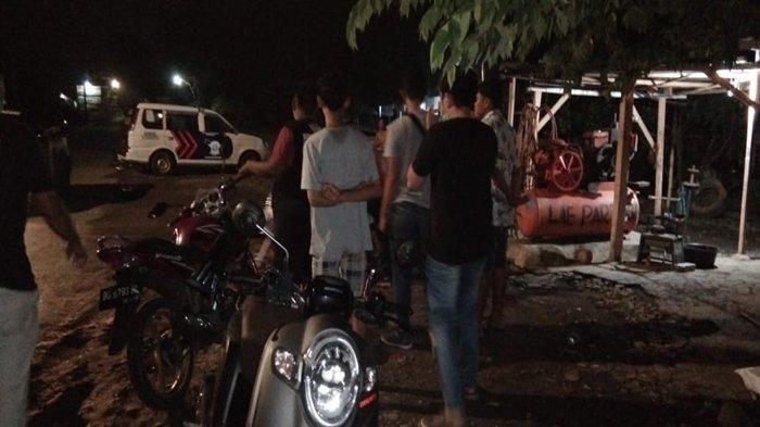 Razia Balap Liar Para pelaku balap liar saat diamankan polisi, Rabu (6/5/2020) dinihari.