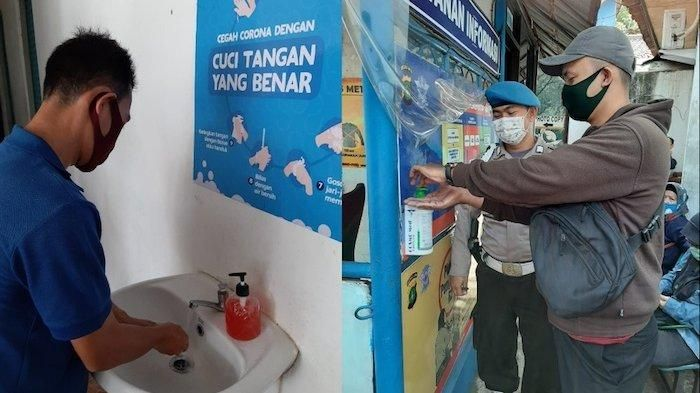 Kantor Satpas SIM Polres Kota Tangerang menyediakan dispanser dan wastafel untuk cuci tangan, Selasa (2/6/2020)