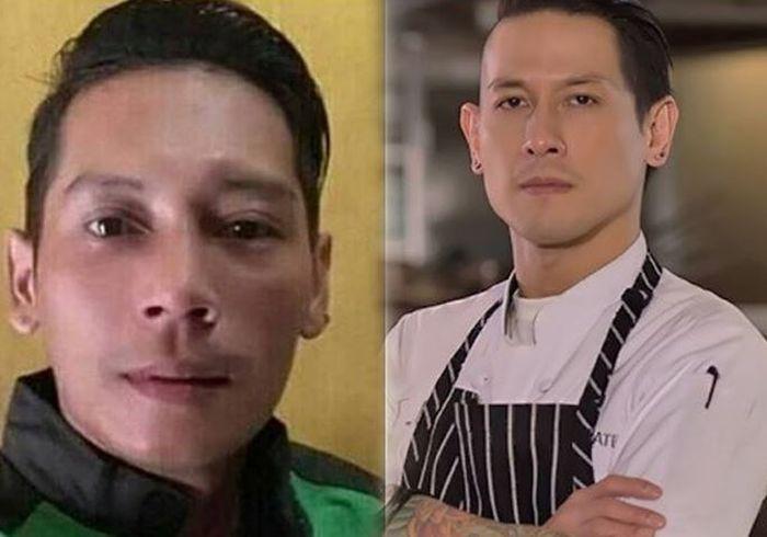 Seorang driver ojol mirip chef Juna