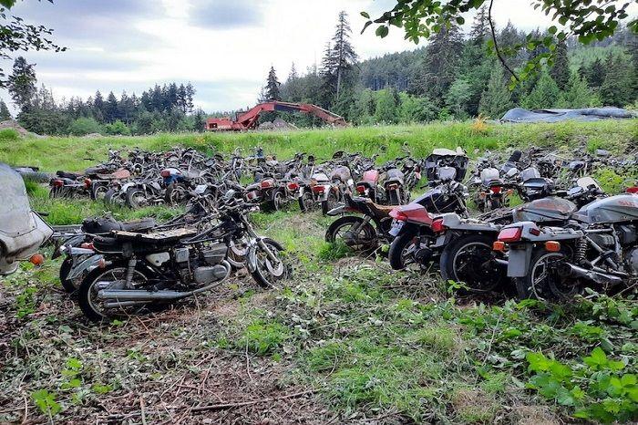 Ratusan motor terparkir ternyata dijual borongan, harganya bikin melongo.
