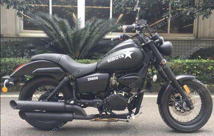 Penampakan XCR 250R pakai dual muffler mirip seperti Harley-Davidson.