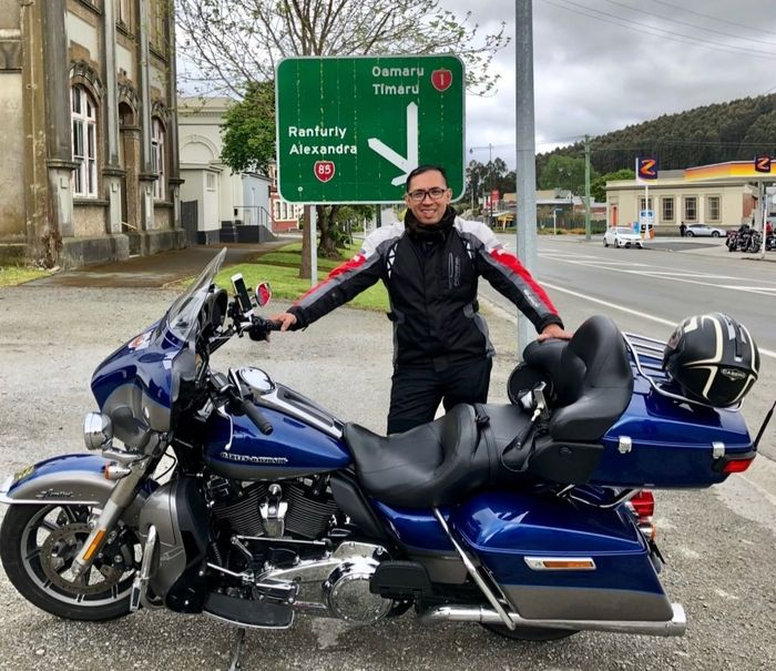 Efran Yuniarto, selaku anggota Motor Besar Indonesia (MBI) saat touring ke Australia dan New Zealand.