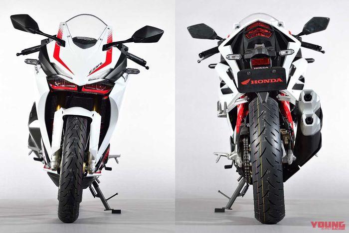 Tampak depan dan belakang Honda CBR250RR