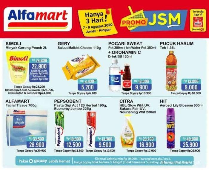 Promo JSM Alfamart 7 sampai 9 Agustus