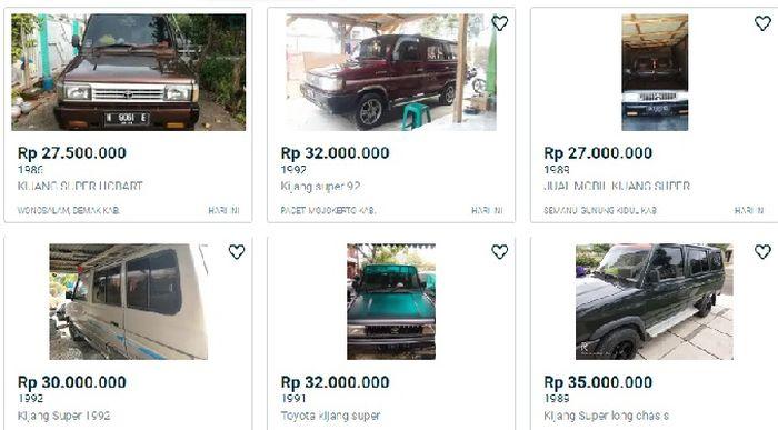Harga pasaran Kijang Super mulai Rp 27 jutaan