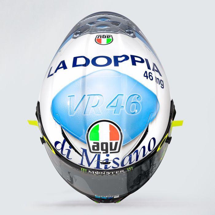 Helm terbaru Valentino Rossi bergambar obat kuat pria.