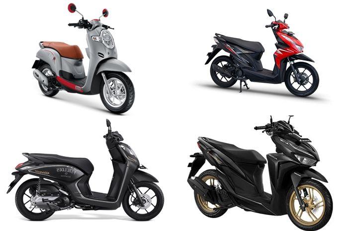 Honda BeAT dan motor baru lainnya kena promo di dealer ini.