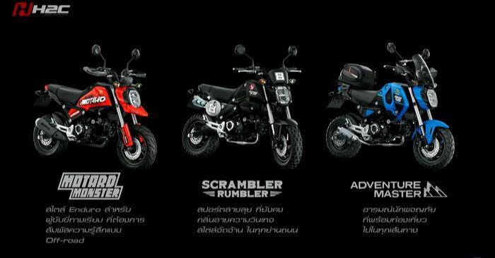 Dengan konsep Mod It Yourself, ada tiga tampilan Honda Grom, Motard, Scrambler dan Adventure