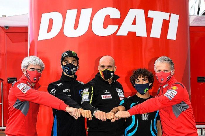 Sah adik Valentino Rossi, Luca Marini dan pembalap Moto2 Enea Bastianini akan tampil di MotoGP 2021 bersama Ducati