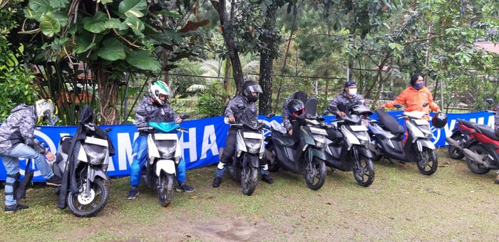 Touring bareng dan test ride Yamaha Gear 125