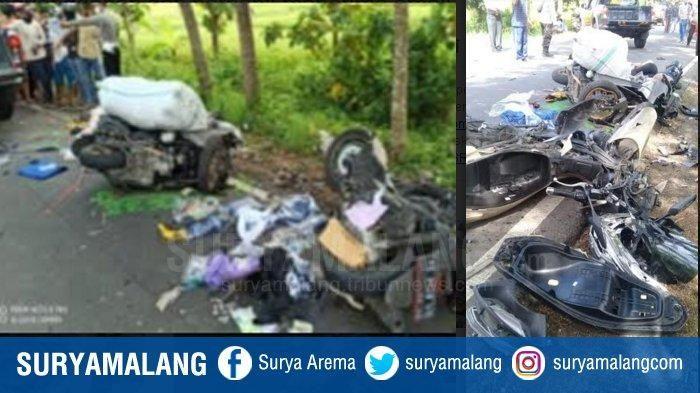 Kecelakaan Adu Banteng motor Yamaha NMax vs Honda PCX terjadi di Jalan Umum Jurusan Ponorogo-Solo KM 13-14 tepatnya di Desa Blembem, Kecamatan Jambon, Kabupaten Ponorogo, Kamis (3/12/2020).
