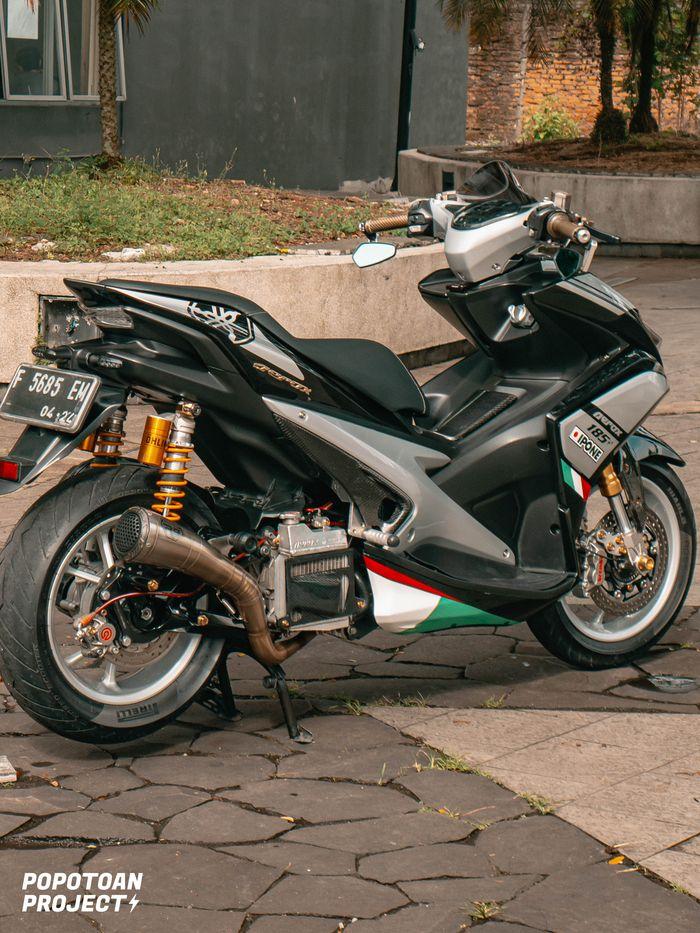 Modifikasi Yamaha Aerox ala Racing Look, kelir bodi unik, plus aksesoris mewah