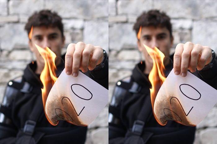 Merayakan tahun baru 2021, Marc Marquez malah bakar kertas, gegara gak juara?