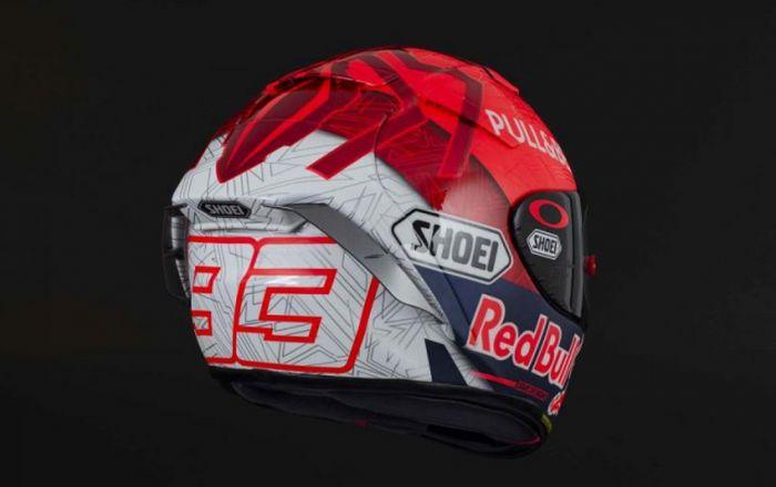 Keren nih, desain helm Shoei milik Marc Marquez untuk musim 2021.