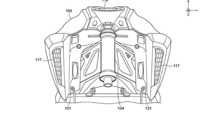 Bagian rangka motor listrik baru dari Honda.
