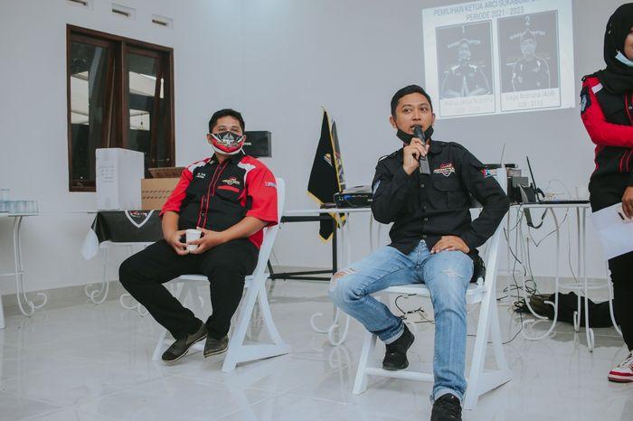 Calon ketua ARCI Chapter Sukabumi Wahyu Setya Nugraha (kiri) Gaga Andriana (kanan)