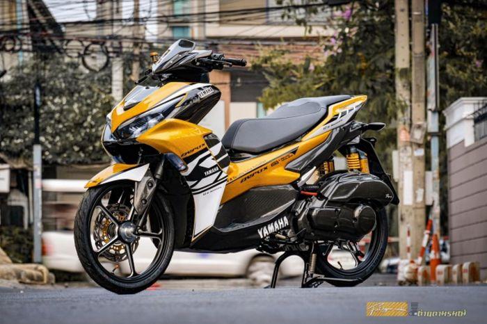 Modifikasi Yamaha All New Aerox 155, totalitas bodi penuh carbon fiber!