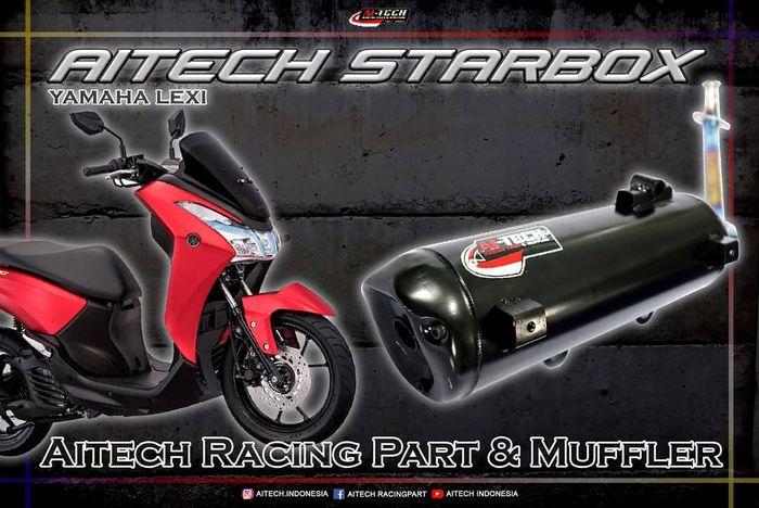 Knalpot Ai-Tech Starbox untuk Yamaha Lexi cocok buat harian