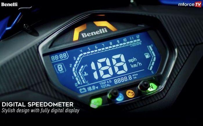 Cluster instrumen full digital Benelli R18i.