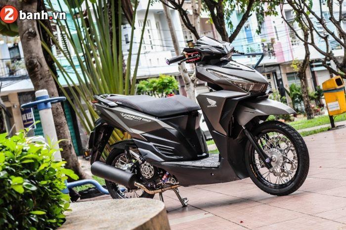 Modifikasi Honda Vario 150, fokus di rombakan kaki-kaki.