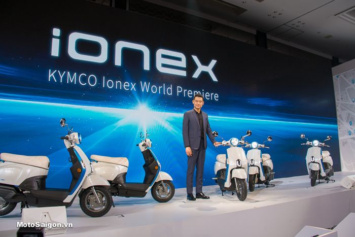 Skuter listrik Kymco iONEX diperkenalkan di Taiwan.