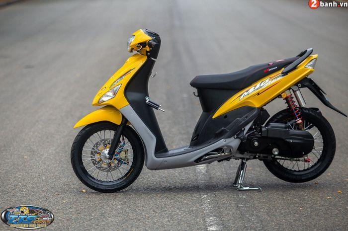 Modifikasi Yamaha Mio lawas generasi pertama.
