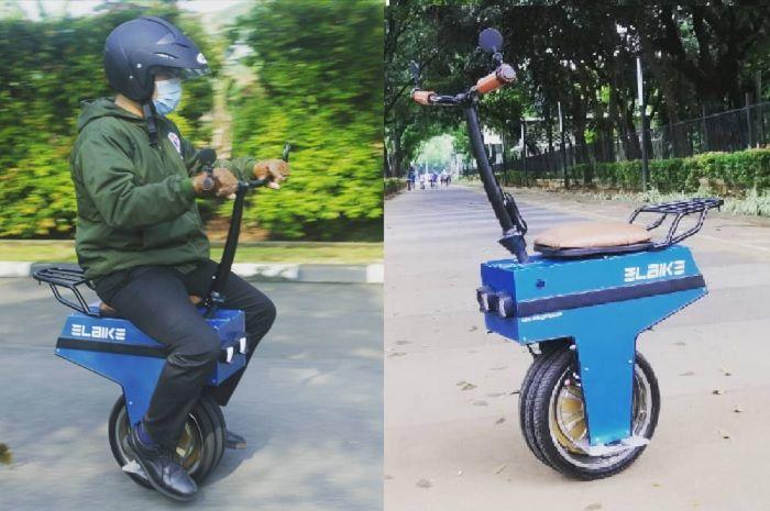 Motor listrik roda satu EL-BI, konsep mirip Honda Motocompo.