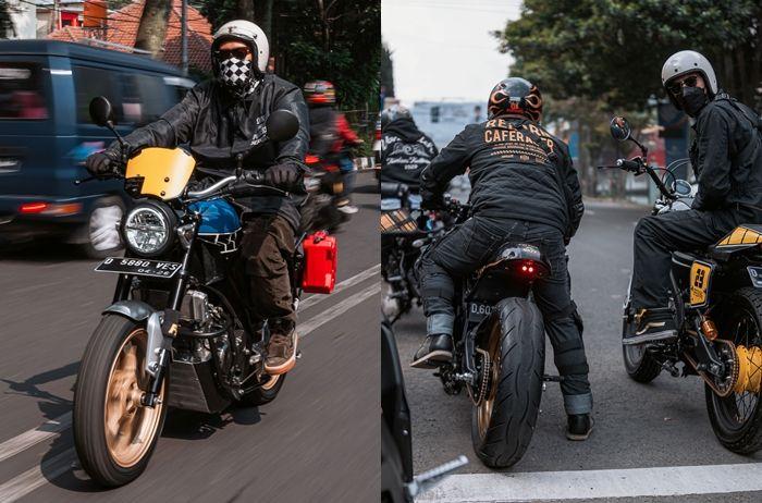 Motor custom hasil karya builder Yard Built juga diajak riding di XSR 155 Motoride Bandung