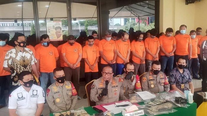 Konferensi pers pengungkapan pelaku pungli di Mapolres Metro Jakarta Utara, Jumat (10/6/2021).
