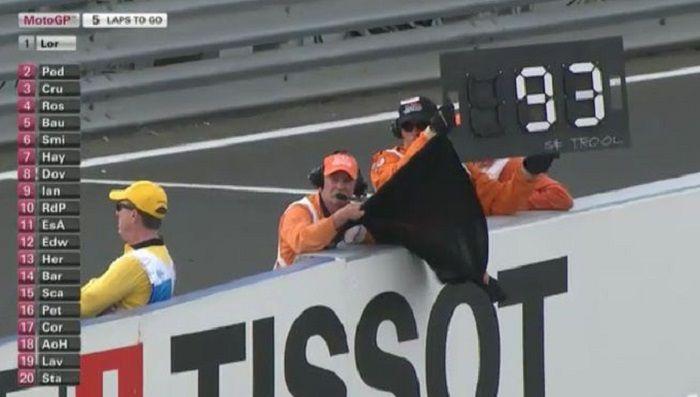 Bendera hitam pada MotoGP