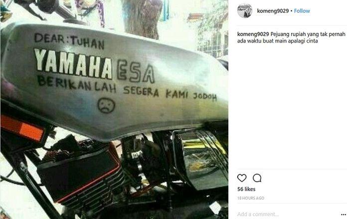 Viral Pemilik Yamaha Rx King Curhat Dan Berdoa Di Tangki