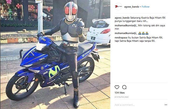 Kocak Satria Baja Hitam Zaman Now Bukan Belalang Tempur Malah Naik Motor Bebek Motorplus Online Com
